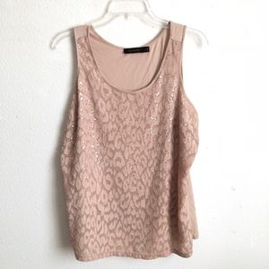The Limited sequins tank top size L